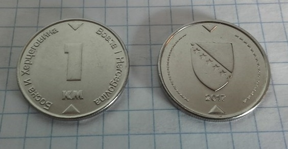 1 Konvertible Marka Bosnia and Herzegovina 2017, KM# 118