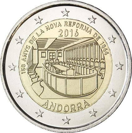 2 Euro 2016, Andorra, 150th Anniversary of the New Reform 1866