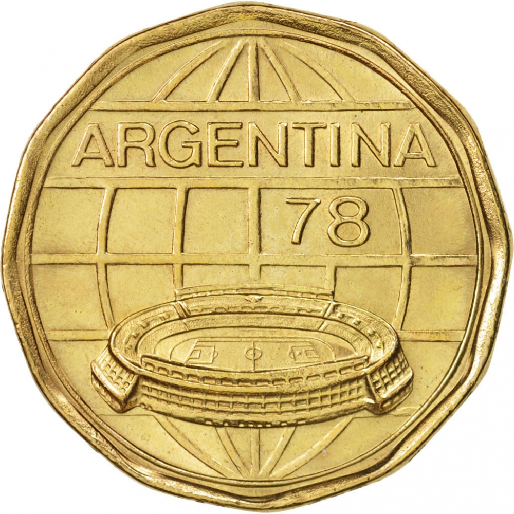 100 Pesos 1977-1978, KM# 77, Argentina, 1978 Football (Soccer) World Cup in Argentina