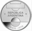 5 Pesos 2018, Argentina, 2018 Football (Soccer) World Cup in Russia