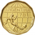 50 Pesos 1977-1978, KM# 76, Argentina, 1978 Football (Soccer) World Cup in Argentina