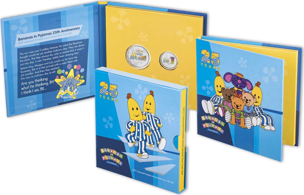 5 Cents 2017, Australia, Elizabeth II, 25th Anniversary of the Bananas in Pyjamas, A book-style pack