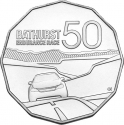 50 Cents 2013, KM# 1856, Australia, Elizabeth II, 50th Anniversary of the Bathurst Endurance Race