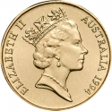 1 Dollar 1994, KM# 258, Australia, Elizabeth II, 10th Anniversary of the Dollar