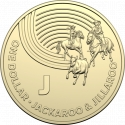 1 Dollar 2019, Australia, Elizabeth II, The Great Aussie Coin Hunt, J - Jackaroo and Jillaroo