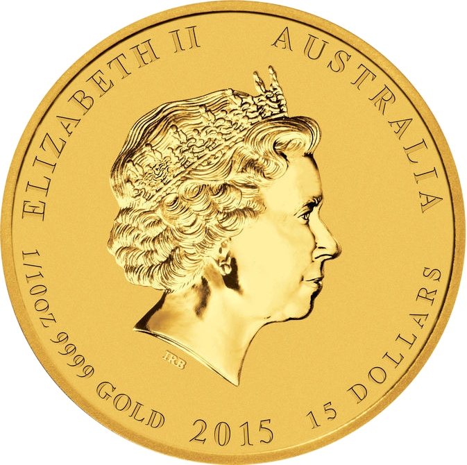 15 Dollars 2015, Australia, Elizabeth II, Australian Lunar Series II, Year of the Goat