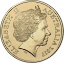 2 Dollars 2017, Australia, Elizabeth II, Lest We Forget