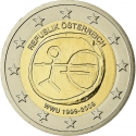 2 Euro 2009, KM# 3175, Austria, 10th Anniversary of the European Monetary Union and the Introduction of the Euro