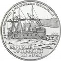 20 Euro 2004, KM# 3114, Austria, Austria on the High Seas, SMS Erzherzog Ferdinand Max
