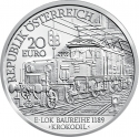 20 Euro 2009, KM# 3178, Austria, Austrian Railways, The Electric Railway