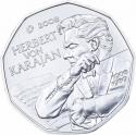 5 Euro 2008, KM# 3156, Austria, Europa Coin Programme, 100th Anniversary of Birth of Herbert von Karajan