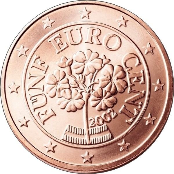 5 euro cent austria 2002 2018 km 3084 coinbrothers catalog. Black Bedroom Furniture Sets. Home Design Ideas