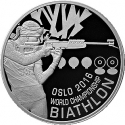 1 Ruble 2016, Belarus, Biathlon World Championship Oslo 2016
