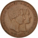 10 Centimes 1853, X# M1, Belgium, Leopold I, Wedding of Prince Leopold and Marie Henriette