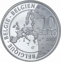 10 Euro 2007, KM# 260, Belgium, Albert II, 50th Anniversary of the Treaty of Rome
