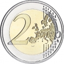 2 Euro 2008, KM# 248, Belgium, Albert II, 60th Anniversary of the Universal Declaration of Human Rights