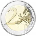2 Euro 2009, KM# 282, Belgium, Albert II, 10th Anniversary of the European Monetary Union