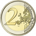 2 Euro 2009, KM# 282, Belgium, Albert II, 10th Anniversary of the European Monetary Union and the Introduction of the Euro