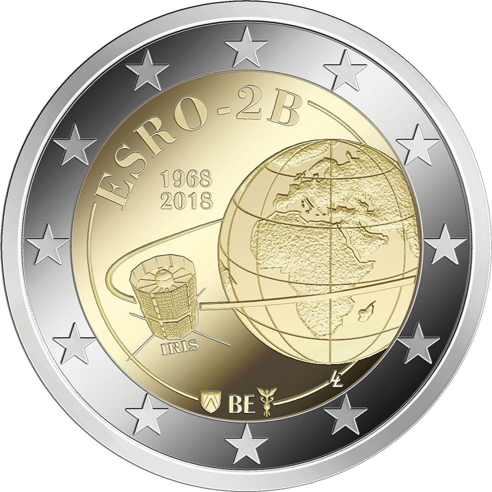 2 Euro 2018, Belgium, Philippe, 50th Anniversary of the ESRO-2B Satellite