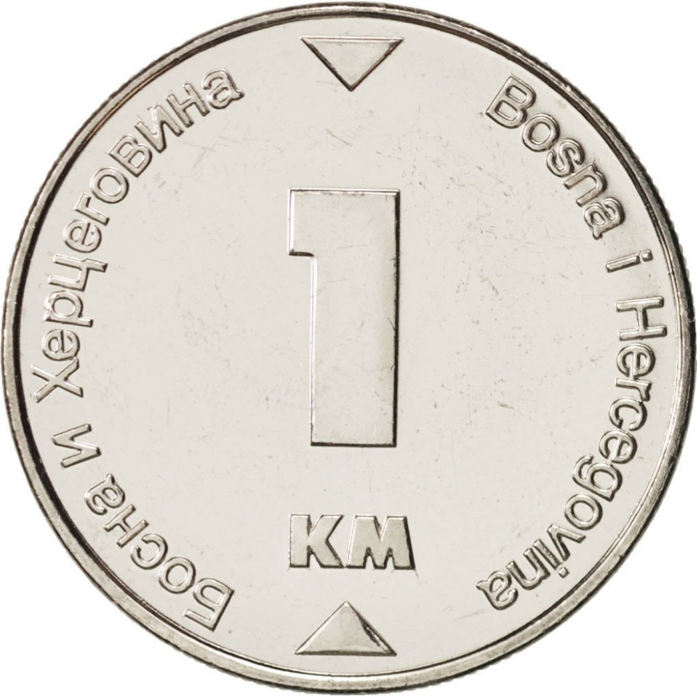 1 Konvertible Marka 2000-2017, KM# 118, Bosnia and Herzegovina