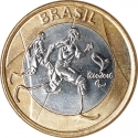 1 Real 2015, KM# 710, Brazil, Rio 2016 Summer Olympics, Paralympic Athletics