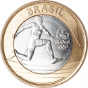 1 Real 2014, KM# 687, Brazil, Rio 2016 Summer Olympics, Athletics