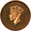 6 Pence 1938-1947, KM# 22, British West Africa, George VI