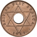1/2 Penny 1912-1936, KM# 8, British West Africa, George V