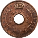 1/2 Penny 1952, KM# 27a, British West Africa, George VI