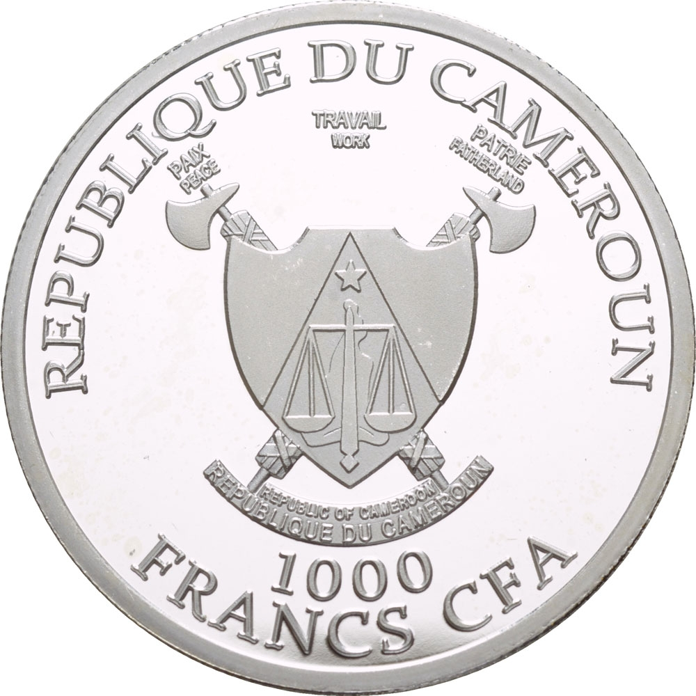 1000 Francs 2018, Cameroon, 2018 Football (Soccer) World Cup in Russia, Kaliningrad