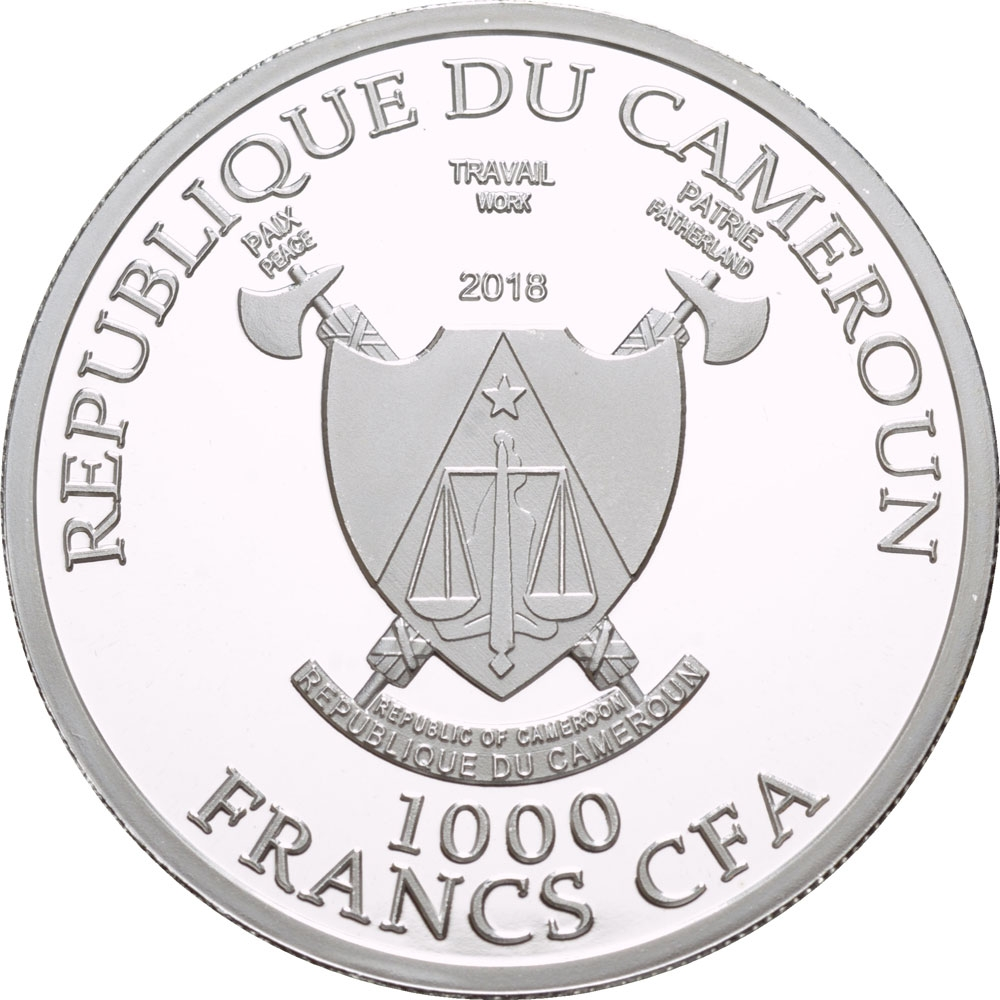 1000 Francs 2018, Cameroon, 2018 Football (Soccer) World Cup in Russia, Samara