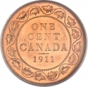 1 Cent 1911, KM# 15, Canada, George V