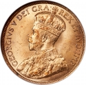 1 Cent 1912-1920, KM# 21, Canada, George V