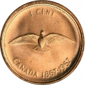 1 Cent 1967, KM# 65, Canada, Elizabeth II, 100th Anniversary of the Canadian Confederation
