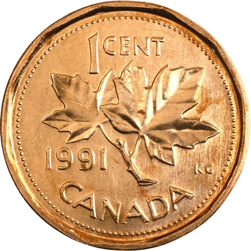 1 Cent Canada 1990 1996 Km 181 Coinbrothers Catalog