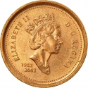 1 Cent 2002, KM# 445, Canada, Elizabeth II, 50th Anniversary of the Accession of Elizabeth II to the Throne, Golden Jubilee