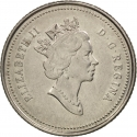 10 Cents 1992, KM# 206, Canada, Elizabeth II, 125th Anniversary of the Canadian Confederation