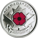 25 Cents 2004, KM# 510, Canada, Elizabeth II, Remembrance Day