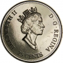 25 Cents 1999, KM# 351, Canada, Elizabeth II, Third Millennium, October, A Tribute to First Nations