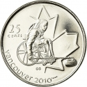 25 Cents 2007, KM# 684, Canada, Elizabeth II, Vancouver 2010 Winter Olympics, Wheelchair Curling