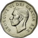 5 Cents 1951, KM# 48, Canada, George VI, 200th Anniversary of the Discovery of Nickel