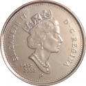 5 Cents 2002, KM# 446, Canada, Elizabeth II, 50th Anniversary of the Accession of Elizabeth II to the Throne, Golden Jubilee