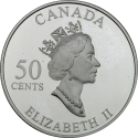 50 Cents 2001, KM# 420, Canada, Elizabeth II, Festivals of the Canada, Quebec Winter Carnival