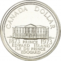 1 Dollar 1973, KM# 82, Canada, Elizabeth II, 100th Anniversary of the Accession of Prince Edward Island