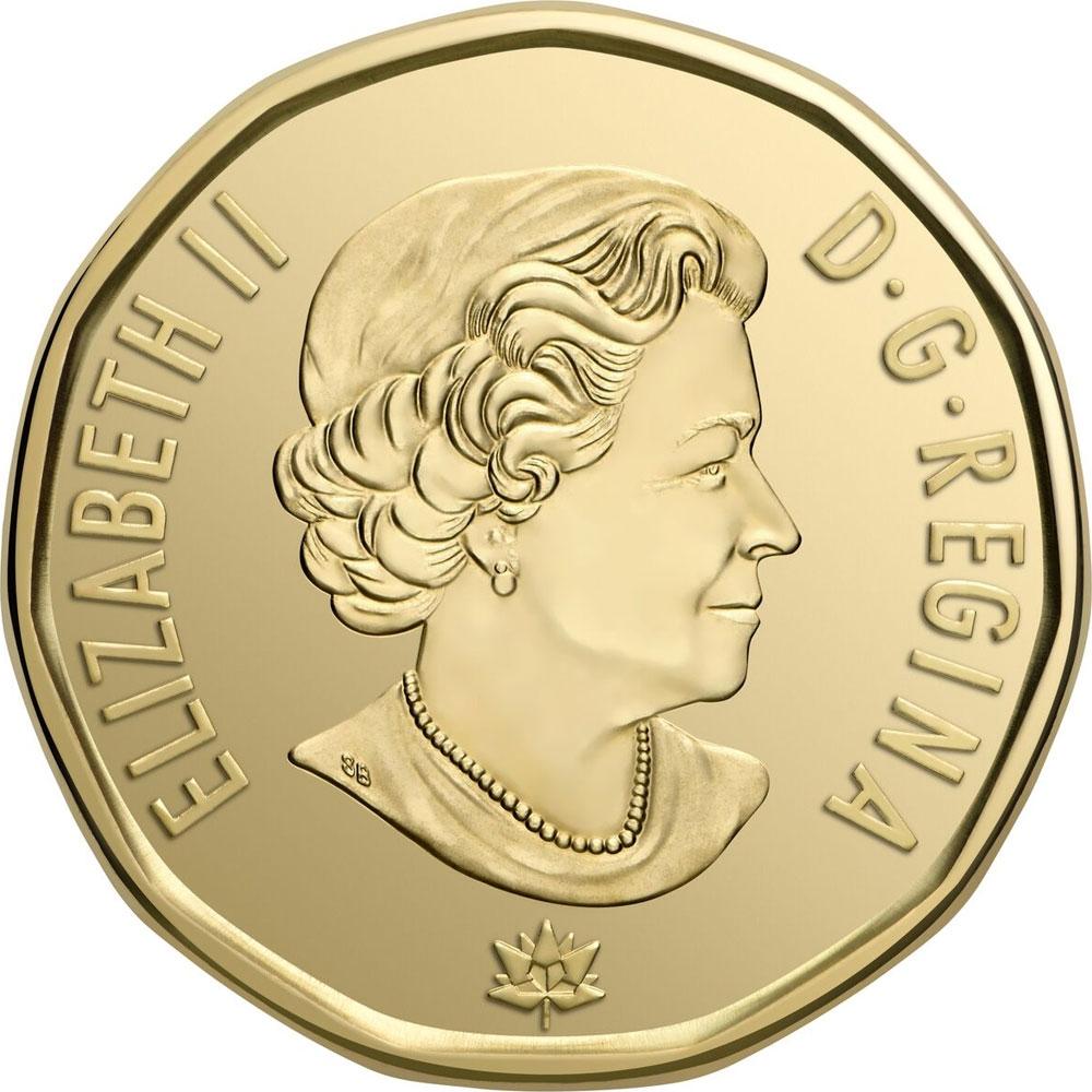 2017 CANADA $1 DOLLAR PROOF-LIKE LOONIE COIN