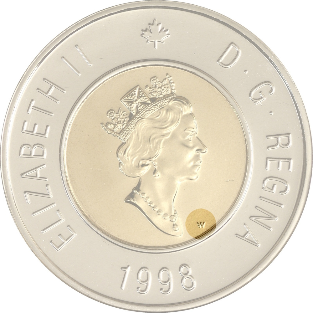 2 Dollars 1996-2003, KM# 270, Canada, Elizabeth II, Winnipeg branch of the Mint