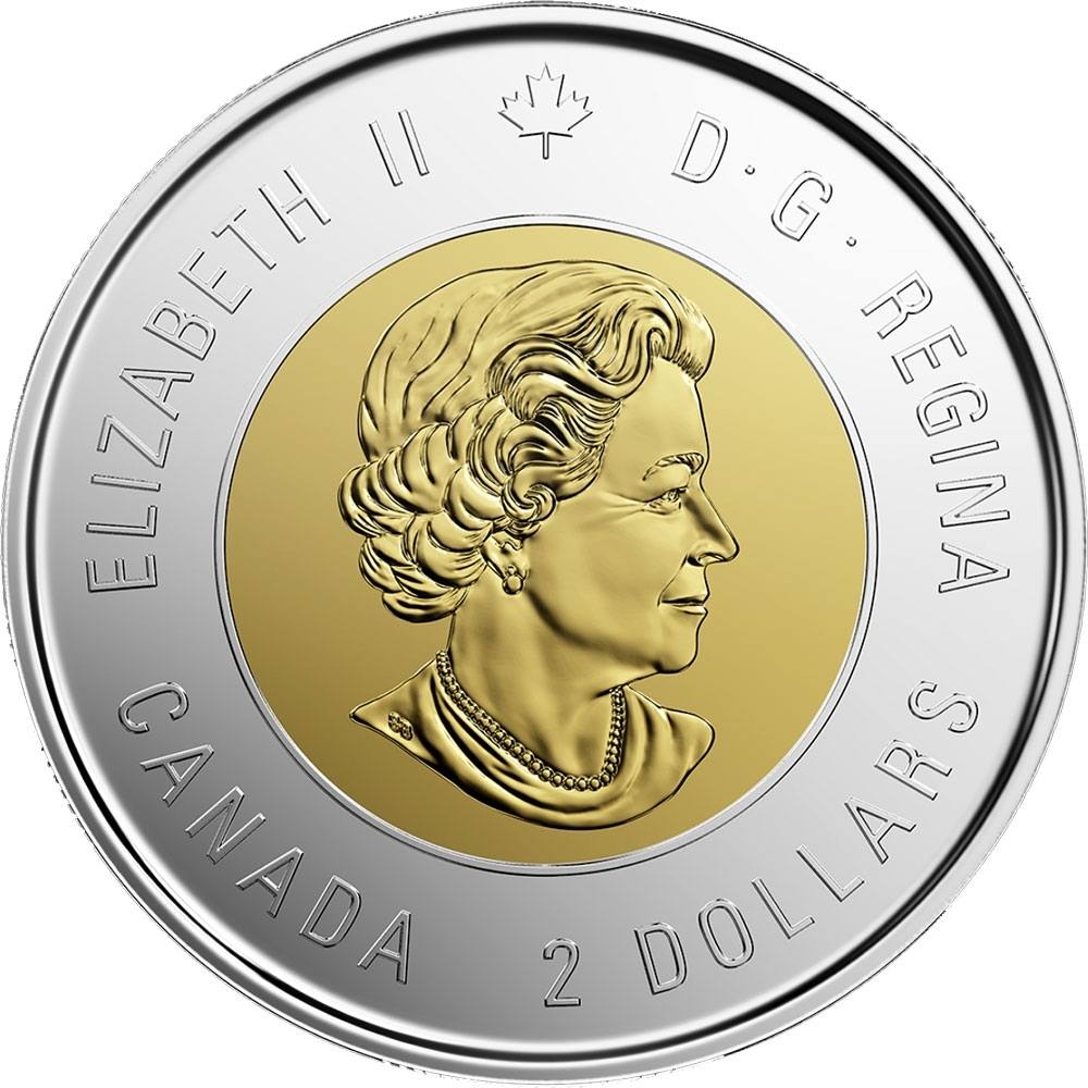 2 Dollars 2019, Canada, Elizabeth II, 75th Anniversary of D-Day