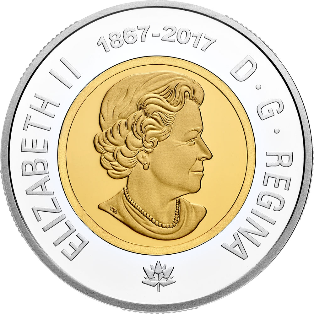 2017 NEW Canada Loonie 150th anniversary One dollar coin
