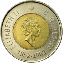 2 Dollars 2002, KM# 449, Canada, Elizabeth II, 50th Anniversary of the Accession of Elizabeth II to the Throne, Golden Jubilee
