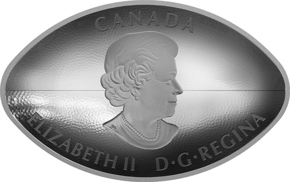 2017 CANADA $25 FOOTBALL SILVER COIN ✪ ORIGINAL BOX /& CoA ✪ CURVED COIN◢TRUSTED◣
